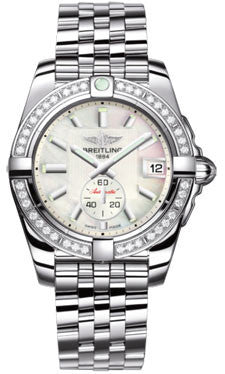 Breitling,Breitling - Galactic 36 Automantic Stainless Steel - Diamond Bezel - Pilot Bracelet - Watch Brands Direct