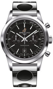Breitling,Breitling - Transocean Chronograph 38 Stainless Steel - Air Racer Bracelet - Watch Brands Direct