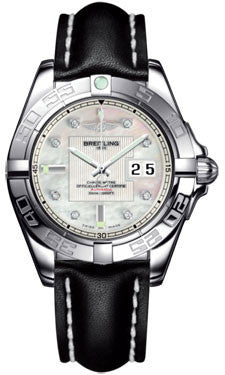 Breitling,Breitling - Galactic 41 Stainless Steel - Leather Strap - Watch Brands Direct