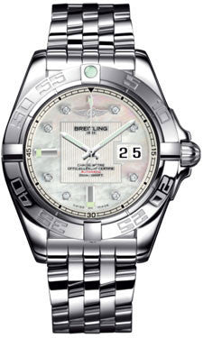 Breitling,Breitling - Galactic 41 Stainless Steel - Pilot Bracelet - Watch Brands Direct