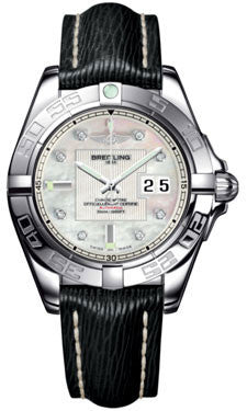 Breitling,Breitling - Galactic 41 Stainless Steel - Sahara Strap - Watch Brands Direct
