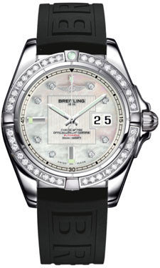 Breitling,Breitling - Galactic 41 Stainless Steel - Diamond Bezel - Diver Pro III Strap - Watch Brands Direct