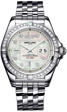 Breitling,Breitling - Galactic 41 Stainless Steel - Diamond Bezel - Pilot Bracelet - Watch Brands Direct