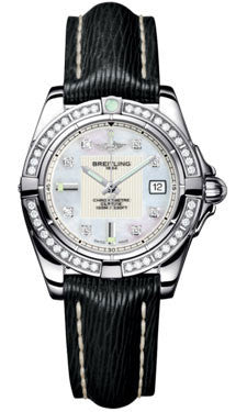Breitling,Breitling - Galactic 32 Stainless Steel - Diamond Bezel - Sahara Strap - Watch Brands Direct