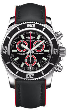 Breitling,Breitling - Superocean Chronograph M2000 Superocean Leather Strap - Watch Brands Direct
