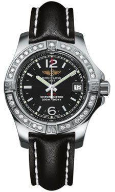 Breitling,Breitling - Colt Lady Diamond Bezel - Leather Strap - Watch Brands Direct