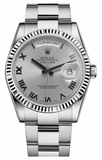 Rolex - Day-Date President White Gold - Fluted Bezel - Watch Brands Direct  - 11