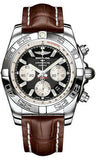 Breitling,Breitling - Chronomat 44 Steel Polished Bezel - Croco Strap - Watch Brands Direct