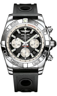 Breitling,Breitling - Chronomat 44 Steel Polished Bezel - Ocean Racer Strap - Watch Brands Direct