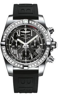 Breitling,Breitling - Chronomat 44 Steel 40 Diamond Bezel - Diver Pro III Strap - Watch Brands Direct