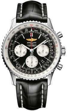 Breitling,Breitling - Navitimer 01 43mm - Stainless Steel - Croco Strap - Watch Brands Direct