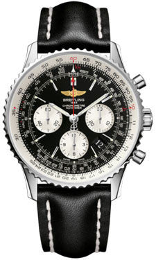 Breitling,Breitling - Navitimer 01 43mm - Stainless Steel - Leather Strap - Watch Brands Direct