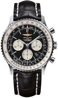 Breitling,Breitling - Navitimer 01 46mm - Stainless Steel - Croco Strap - Watch Brands Direct