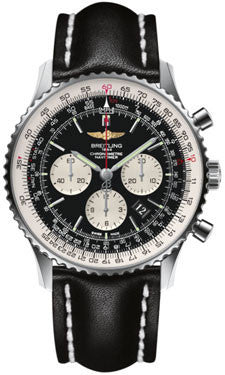 Breitling,Breitling - Navitimer 01 46mm - Stainless Steel - Leather Strap - Watch Brands Direct