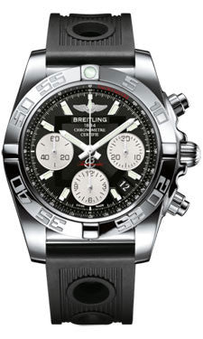 Breitling,Breitling - Chronomat 41 Steel Polished Bezel - Ocean Racer Strap - Watch Brands Direct