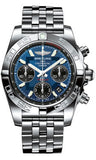 Breitling,Breitling - Chronomat 41 Steel Polished Bezel - Pilot Bracelet - Watch Brands Direct