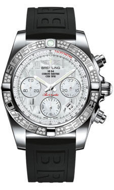 Breitling,Breitling - Chronomat 41 Steel Diamond Bezel - Diver Pro III Strap - Watch Brands Direct