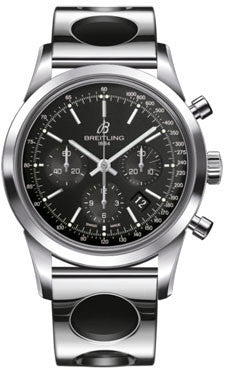 Breitling,Breitling - Transocean Chronograph Stainless Steel - Bracelet - Watch Brands Direct
