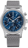 Breitling,Breitling - Transocean Chronograph Steel - Diamond Case - Bracelet - Watch Brands Direct