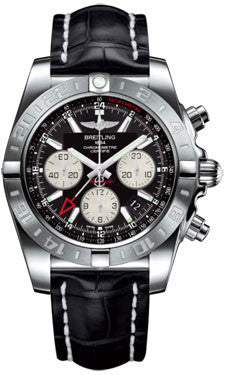 Breitling,Breitling - Chronomat 44 GMT Stainless Steel on Croco Strap - Watch Brands Direct