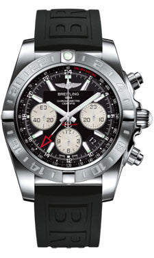 Breitling,Breitling - Chronomat 44 GMT Stainless Steel on Rubber Strap - Watch Brands Direct