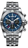 Breitling,Breitling - Chronomat 44 GMT Stainless Steel Bracelet - Watch Brands Direct