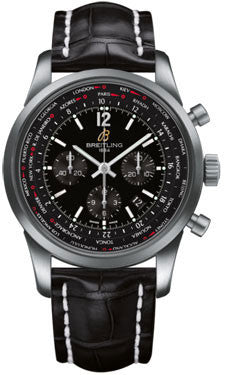 Breitling,Breitling - Transocean Unitime Pilot Satin Steel - Watch Brands Direct