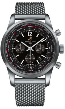 Breitling,Breitling - Transocean Unitime Pilot Satin Steel - Bracelet - Watch Brands Direct