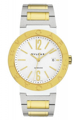 Bulgari,Bulgari - BVLGARI Automatic 38mm - Stainless Steel and Yellow Gold - Watch Brands Direct