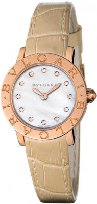 Bulgari,Bulgari - BVLGARI Quartz 26mm - Rose Gold - Watch Brands Direct
