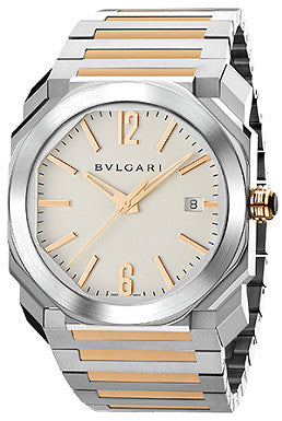Bulgari,Bulgari - Octo Automatic 38mm - Stainless Steel and Rose Gold - Watch Brands Direct