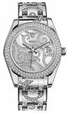 Rolex - Datejust Pearlmaster 34 White Gold - 116 Diamond Bezel - Watch Brands Direct  - 1