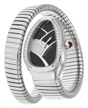 Bulgari - Serpenti - Stainless Steel and Diamonds - One Tail - Watch Brands Direct