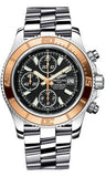 Breitling,Breitling - Superocean Chronograph II Abyss White Steel and Gold - Watch Brands Direct