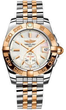 Breitling,Breitling - Galactic 36 Automantic Steel-Rose Gold - Pilot Bracelet - Watch Brands Direct