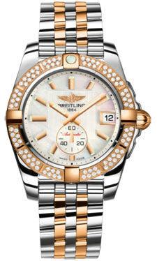 Breitling,Breitling - Galactic 36 Automantic Steel-Rose Gold - Diamond Bezel - Pilot Bracelet - Watch Brands Direct