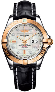 Breitling,Breitling - Galactic 41 Steel-Rose Gold - Croco Strap - Watch Brands Direct