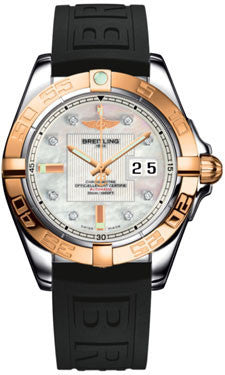 Breitling,Breitling - Galactic 41 Steel-Rose Gold - Diver Pro III Strap - Watch Brands Direct
