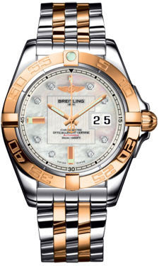 Breitling,Breitling - Galactic 41 Steel-Rose Gold - Pilot Bracelet - Watch Brands Direct
