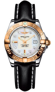 Breitling,Breitling - Galactic 32 Steel-Rose Gold - Leather Strap - Watch Brands Direct