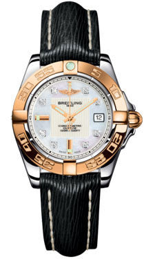 Breitling,Breitling - Galactic 32 Steel-Rose Gold - Sahara Strap - Watch Brands Direct