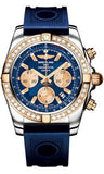 Breitling,Breitling - Chronomat 44 Steel and Rose Gold 40 Diamond Bezel - Ocean Racer Strap - Watch Brands Direct