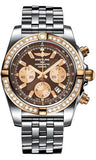 Breitling,Breitling - Chronomat 44 Steel and Rose Gold 40 Diamond Bezel - Steel Pilot Bracelet - Watch Brands Direct