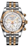 Breitling,Breitling - Chronomat 44 Steel and Rose Gold 60 Diamond Bezel - Pilot Bracelet - Two-Tone - Watch Brands Direct