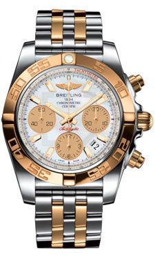 Breitling,Breitling - Chronomat 41 Steel and Gold - Steel and Gold Pilot Bracelet - Watch Brands Direct