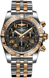 Breitling,Breitling - Chronomat 41 Steel and Gold Diamond Bezel - Steel and Gold Pilot Bracelet - Watch Brands Direct