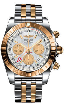 Breitling,Breitling - Chronomat 44 GMT Steel and Gold on Bracelet - Watch Brands Direct
