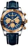 Breitling,Breitling - Chronomat 44 GMT Steel and Gold on Croco - Watch Brands Direct