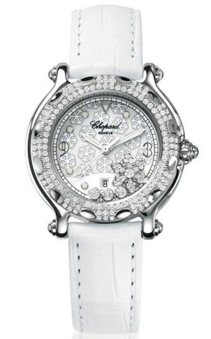 Chopard - Happy Sport Snowflakes - Stainless Steel and White Gold with Diamonds - Watch Brands Direct