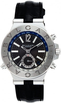 Bulgari,Bulgari - Diagono Automatic GMT 40mm - Stainless Steel - Watch Brands Direct